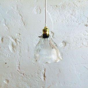 Plafonnier Jour Vintage En Verre Ancien Luminaire Suspension Abat WredBCxo
