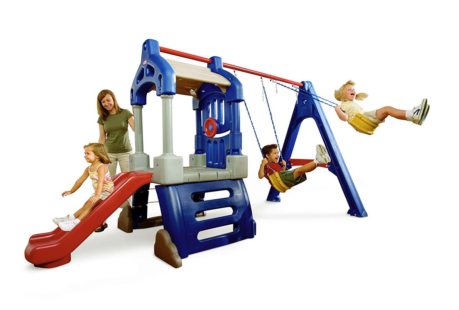 Amazon Backyard Playsets amazon: little tikes clubhouse swing set: toys & games | outdoor