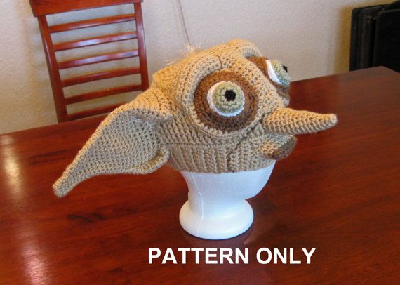 PATTERN House Elf Crochet Hat adult size by FunDesignsByDiana ... 6d611a6646c