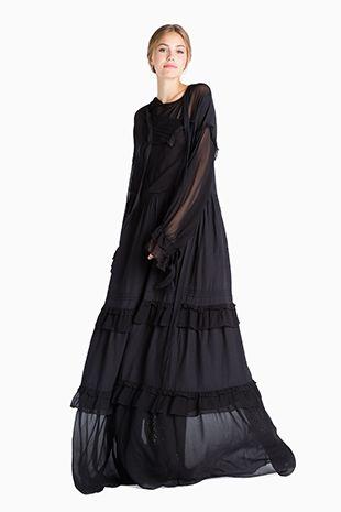 new style c1b53 27678 Abito oversize nero Twin Set, collezione autunno 2016   Fall ...