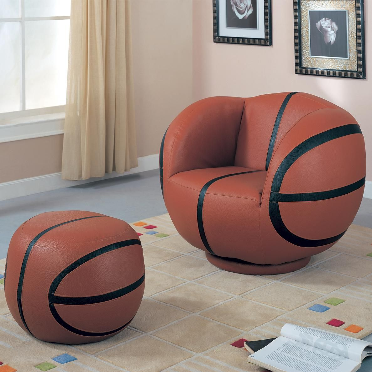 kids sports chairs youth chair and ottoman by coaster fun for grandkids pinterest kids. Black Bedroom Furniture Sets. Home Design Ideas
