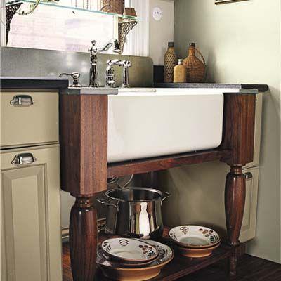 Balanced Workstations Help A Small Kitchen Trendy Farmhouse Kitchen Kitchen Sink Diy Freestanding Kitchen
