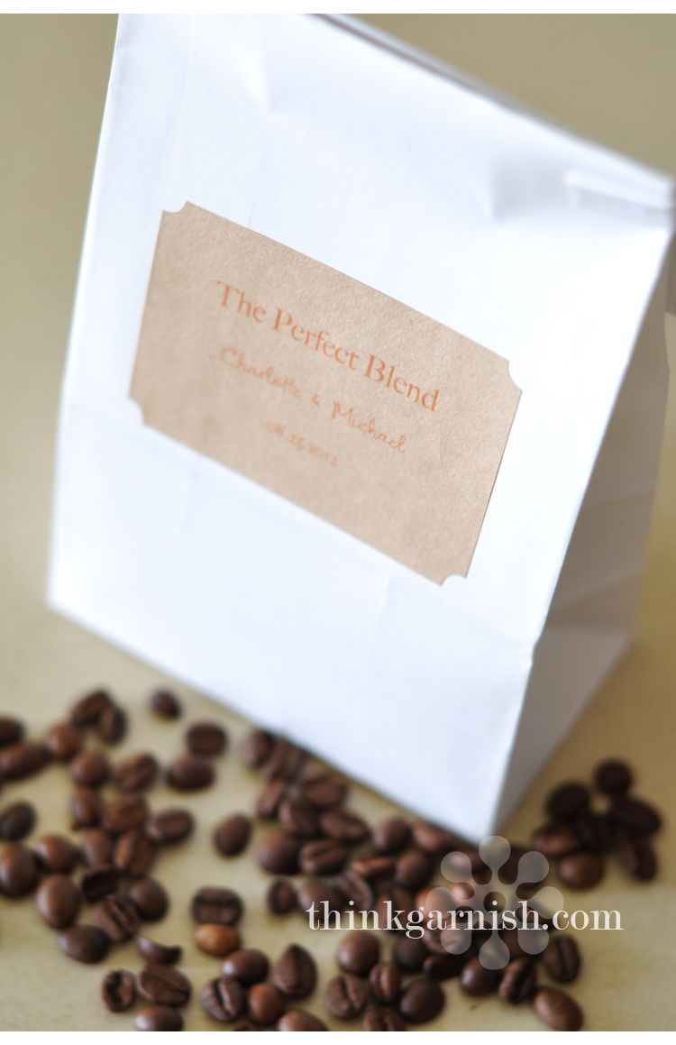 Coffee wedding favors!! \