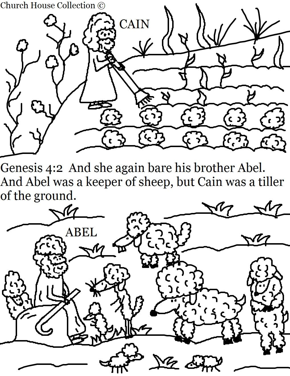 Cain And Abel Coloring Pages Cain And Abel Vacation Bible
