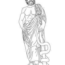 Asclepius The Greek God Of Medecine Coloring Page Coloring Page