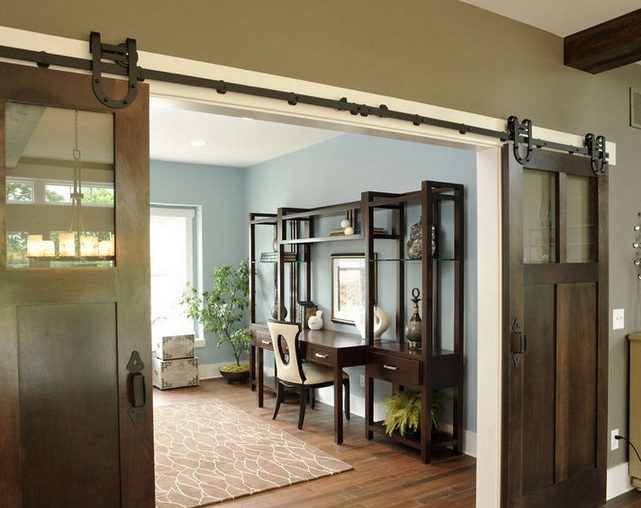 Sliding Barn Door Living Room