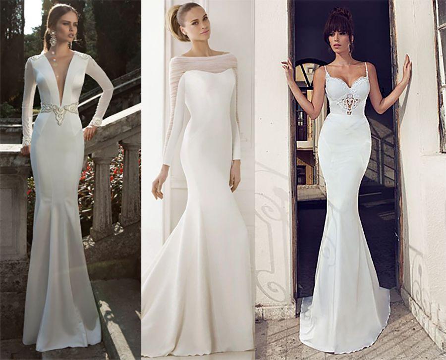 Conhecido Vestido de noiva sereia simples … | Pinteres… LM67