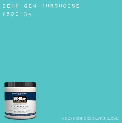 Gem Turquoise 500B4 from Behr This is a gorgeous true turquoise