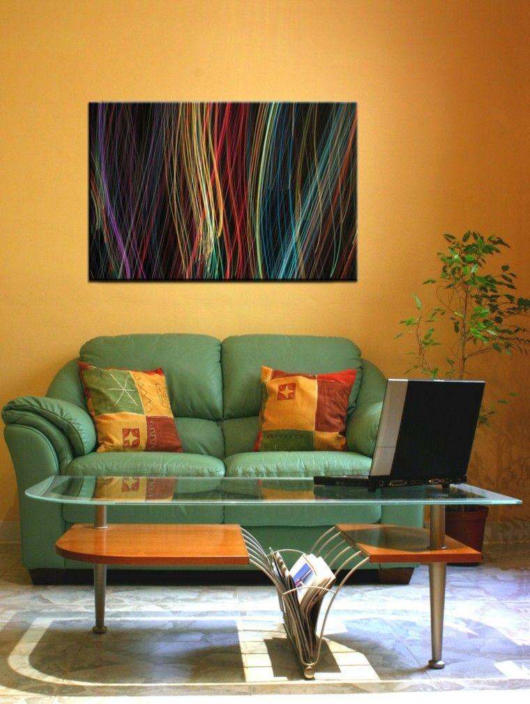 Pinturas para salón - ideas de combinaciones modernas Pintura de