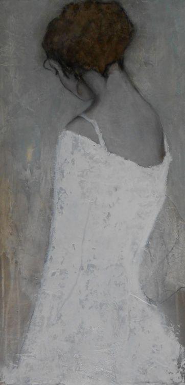 techniques mixtes sur toile. By Carine Bouvard.