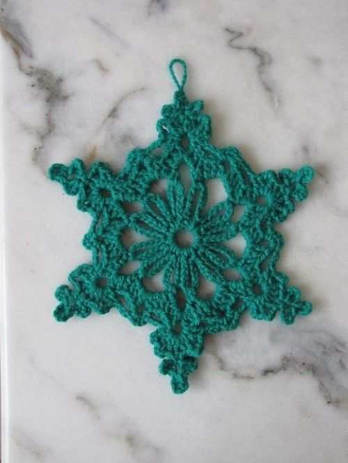 Chain Loop Snowflake - Free Pattern (Beautiful Skills ...