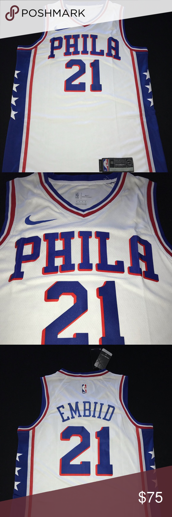 Joel Embiid Philadelphia 76ers Jersey Brand New With Tags Nike Shirts Tank Tops Jersey Nike Shirts Tank Top Shirt