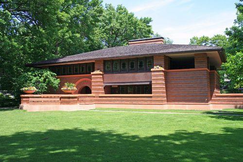 Merveilleux Heurtley House. 1902, Oak Park, Illinois. Frank Lloyd Wright. Prairie Style