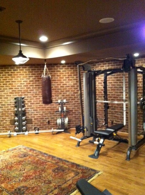 our home gym no excuses fitness home gym garage home gym rh pinterest com