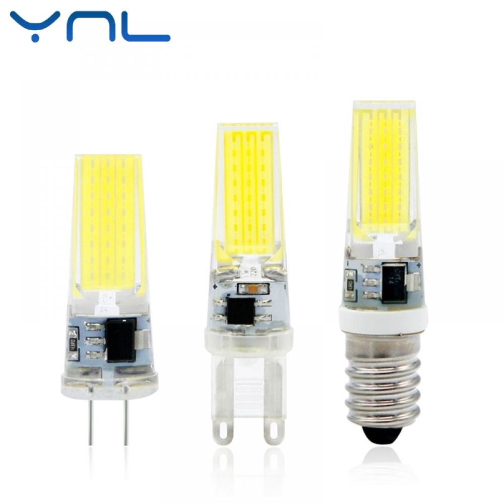 Ynl 2017 New Led Lamp G4 G9 E14 Ac Dc 12v 220v 3w 6w 9w Cob Led G4 G9 Bulb Dimmable For Crystal Chandelier Lights Crystal Chandelier Lighting Lamp Led Bulb