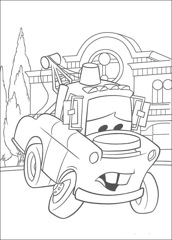 Mater Cars Coloring Page Kleurplaten Disney Kleurplaten