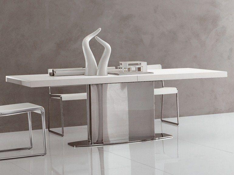 Tavolo allungabile rettangolare in acciaio inox LOTO by ALIVAR ...