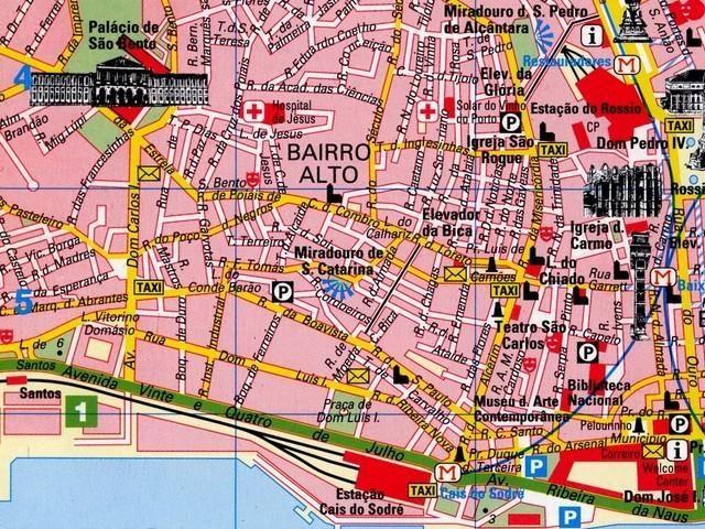 Dot Portugal Xi Lisbon Map Bairro Alto Lisbon Map Lisbon Portugal
