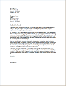 Complaint Letter About Treatment Of Unaccompanied Child Download