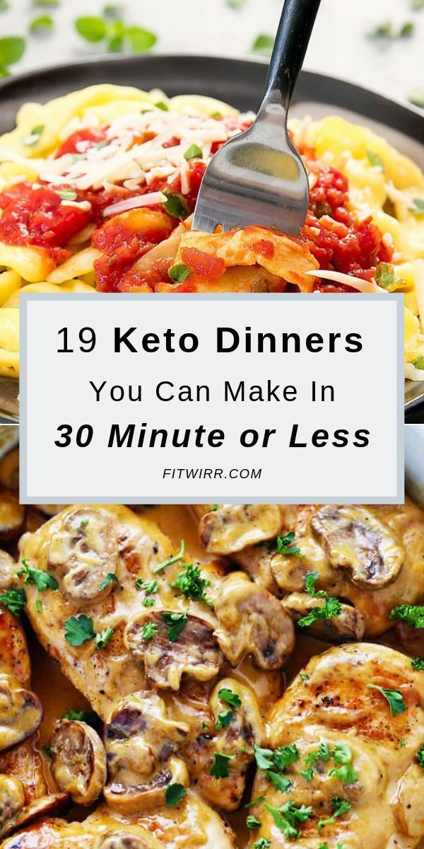 19 Easy Keto Diet Dinner Recipes to Lose Weight Fast #ketorecipesforbeginners