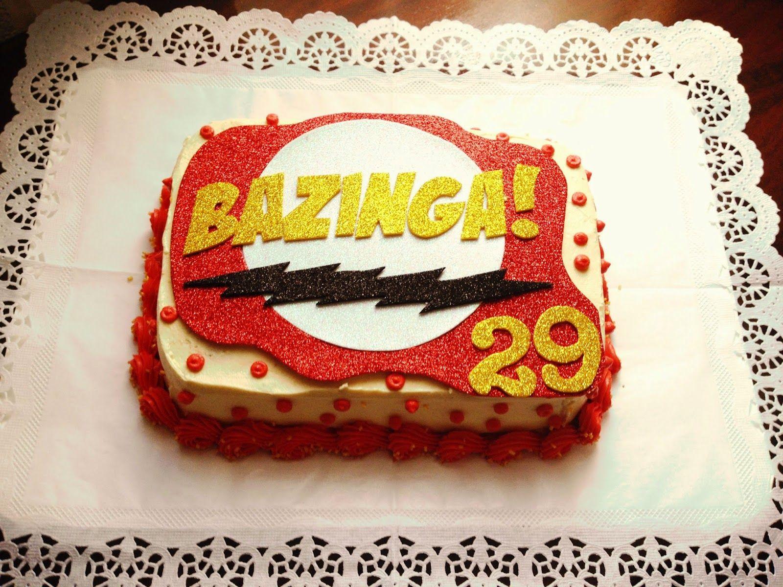 The Big Bang Theory Cake Bazinga