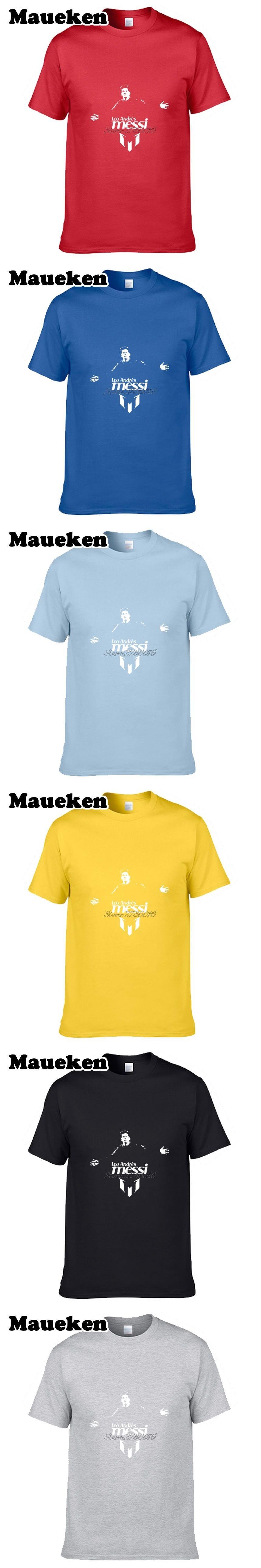 e2a87a59 Men's T-Shirt Lionel Messi #10 futbol Short Sleeve Man casual 100 ...