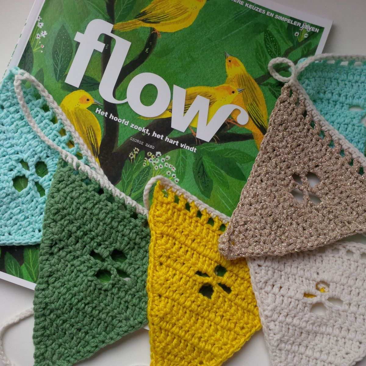 Zomer Vlaggetjes Haken Crochet Granny Squares And Motifs Corona