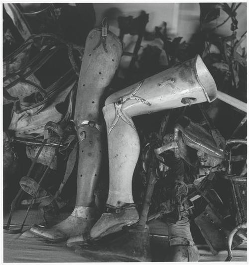 Artificial limbs, Auschwitz, Poland byMichael Kenna, 1993
