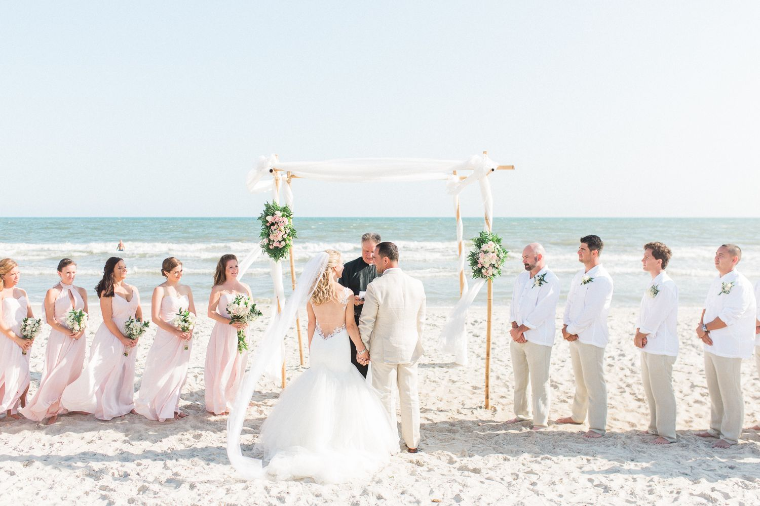 North Carolina Film Photographer Oak Island Wedding Wilmington Southport St James Plantation