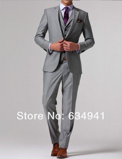 Garrett loves: light gray, light purple, nice cut and fabric ...