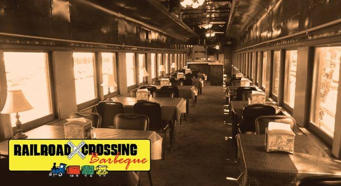 Railroad Crossing Barbeque The Fun Train Themed Restaurant In Houston Texas