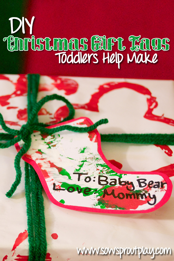 DIY Christmas Gift Tags Toddlers Help Make