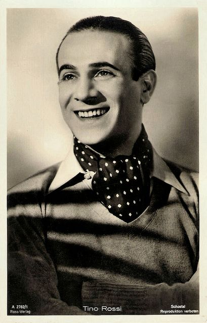 TINO ROSSI. Tino Rossi was a French singer and film actor. Born Constantin Rossi in Ajaccio, Corsica, France, he became a tenor of French cabaret and one of the great romantic idols of his time.