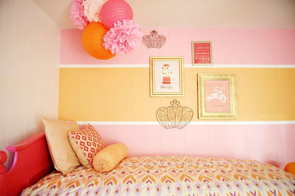 Nurseries And Parties We Love This Week Shared Girls Room Yellow Girls Room Kids Room Paint