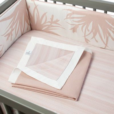 Oilo Crib Bedding Set Freesia Blush Sarah Nasafi Grayce