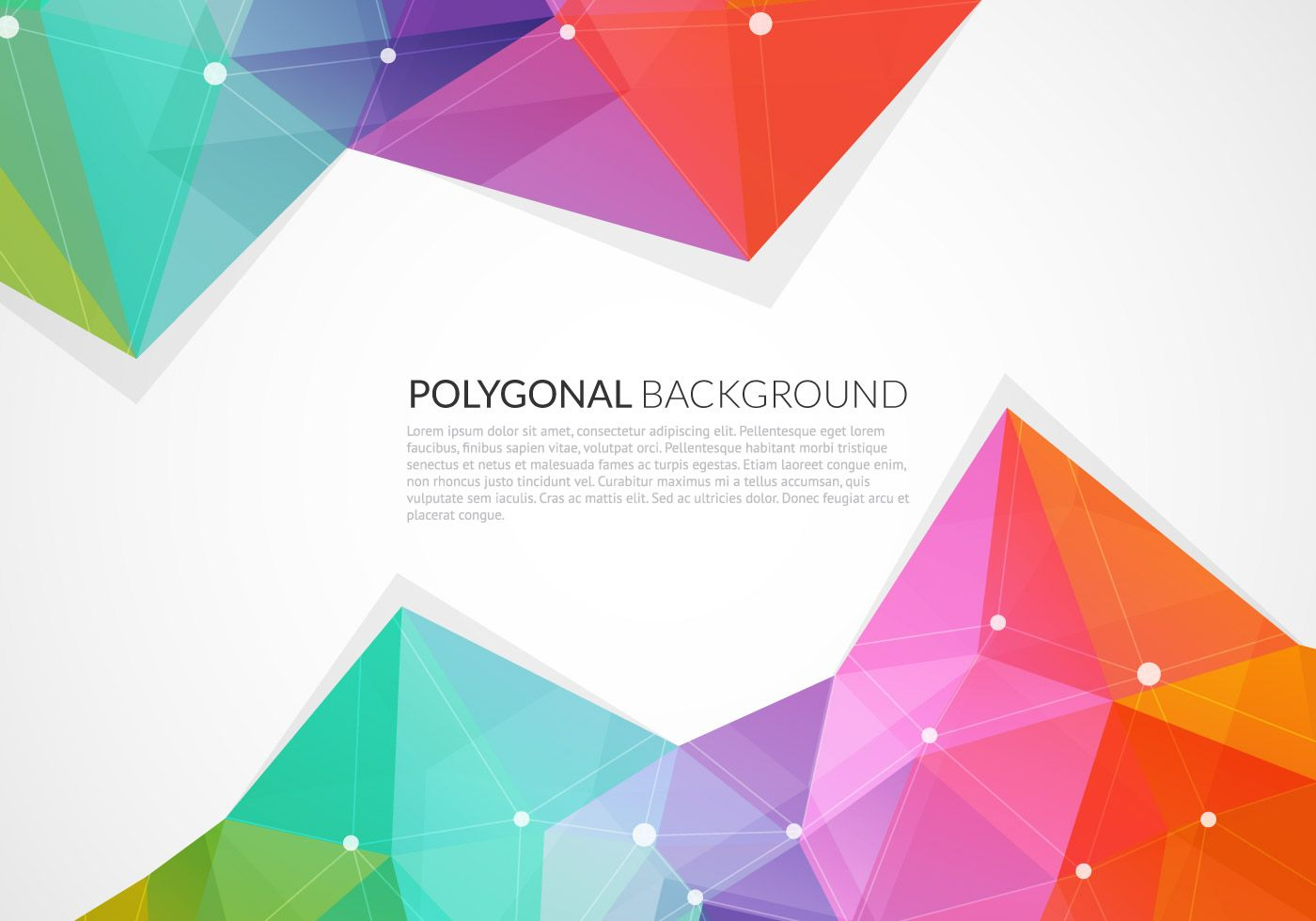 Abstract Colorful Triangle Vector Background Vector Graphic
