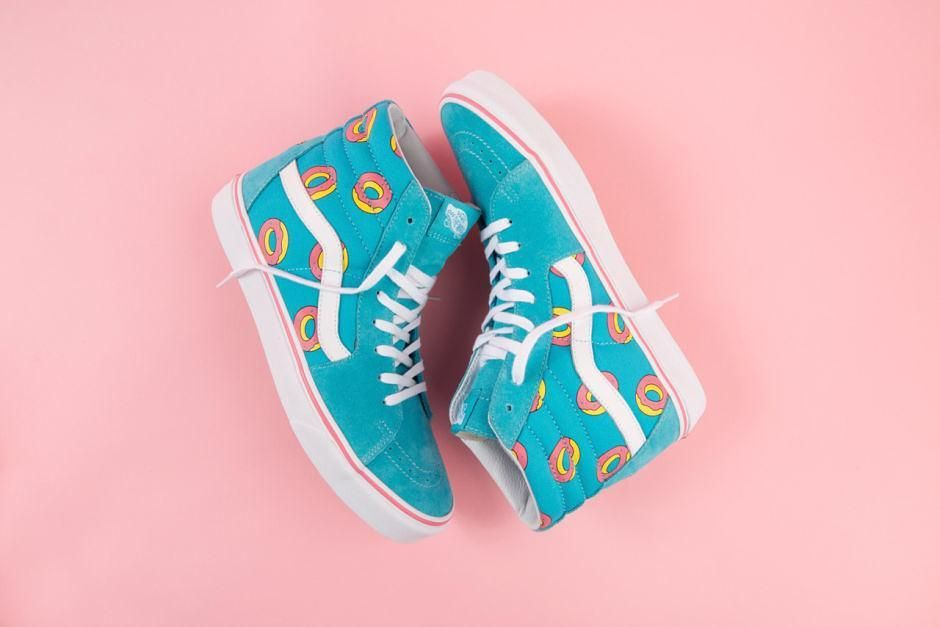 13238355512d4e Odd Future and Vans created a new colorway for the Sk8-Hi silhouette  featuring Tyler the Creator s Donut logo.  kicks  sneakers  collaboration   oddfuture ...