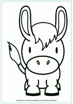 Donkey Colouring Page Farm Animal Coloring Pages Animal