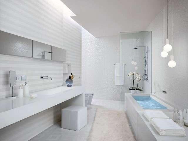 Illuminare un bagno cieco illuminazione modern white bathroom