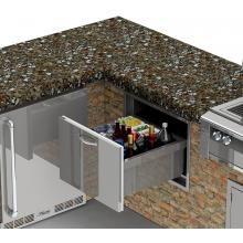 Alfresco 26 Inch Under Counter Ice Drawer Beverage Center Axe Id Beverage Center Alfresco Outdoor Beverage Center