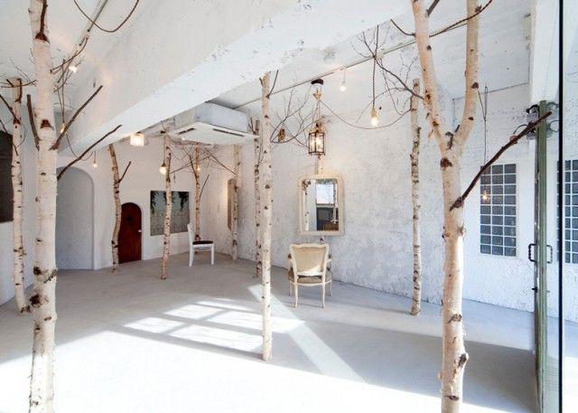 20 inspirations pour mettre un arbre dans la maison | Salons ...
