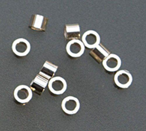 #Sterling Silver Tube Crimp, 1.5mm X 2mm- Pk/100 - BDS-112.06 $10.81