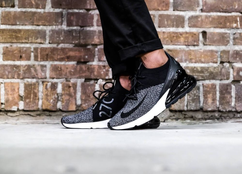 100% authentic b9871 04a5f NIKE AIR MAX 270 FLYKNIT | BLACK-WOLF GREY-WHITE | AO1023 ...