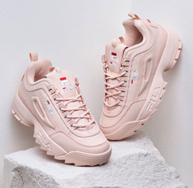 FILA White Pink Shoes Sneakers DISRUPTOR II 2 Women ...