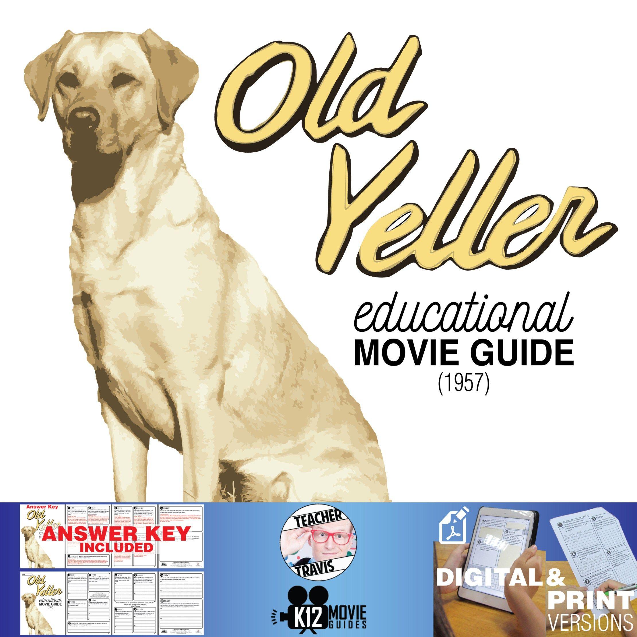 Old Yeller Movie Guide Questions Worksheet Nr