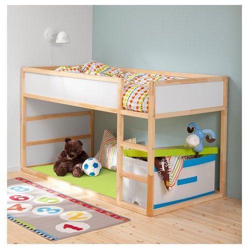 Kura Ters Cevrilebilen Cocuk Karyolasi Beyaz Cam 90x200 Cm Toddler Bunk Beds Toddler Loft Beds Ikea Bunk Beds Kids