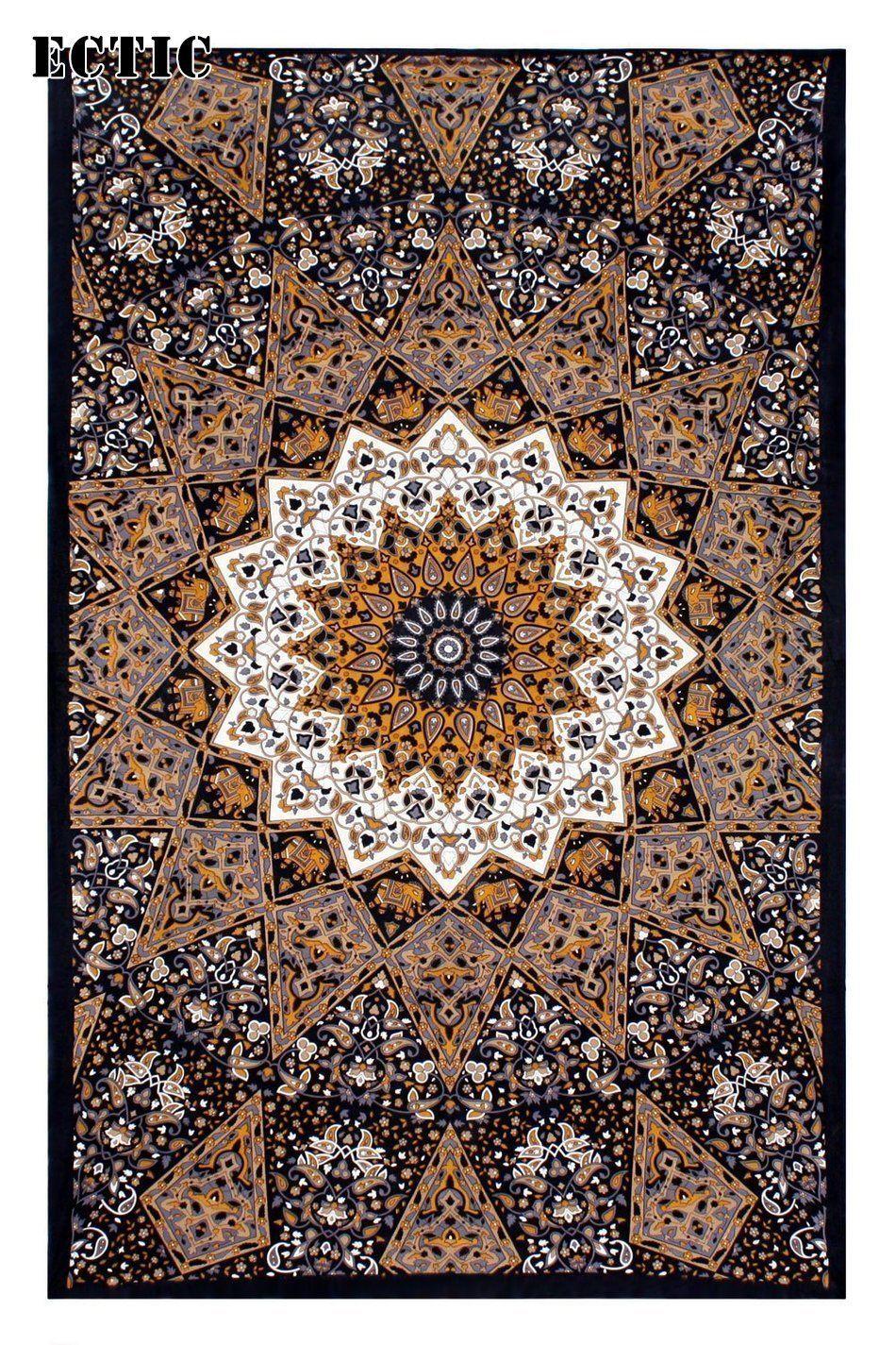 Click to buy ucuc gold totem elephant mandala shawl hanging moroccan