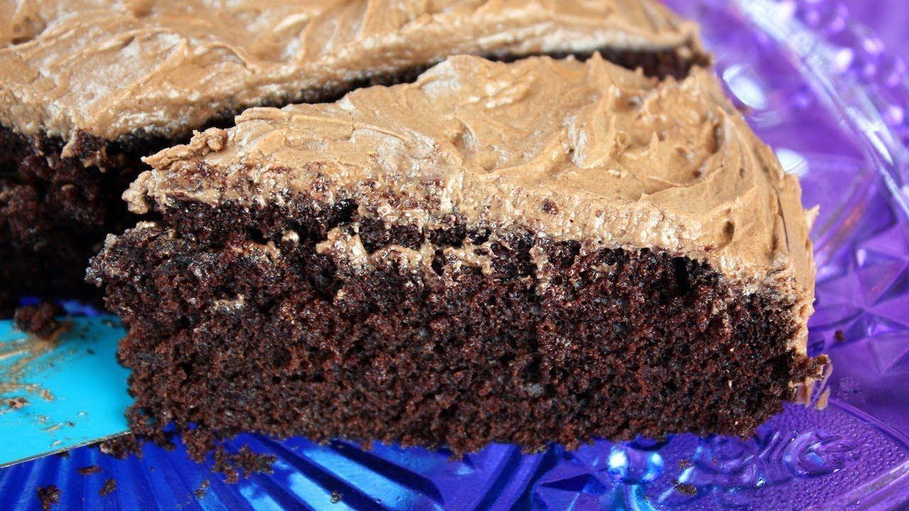 Quick & Easy Chocolate Cake - No mixer. No eggs. No butter ...