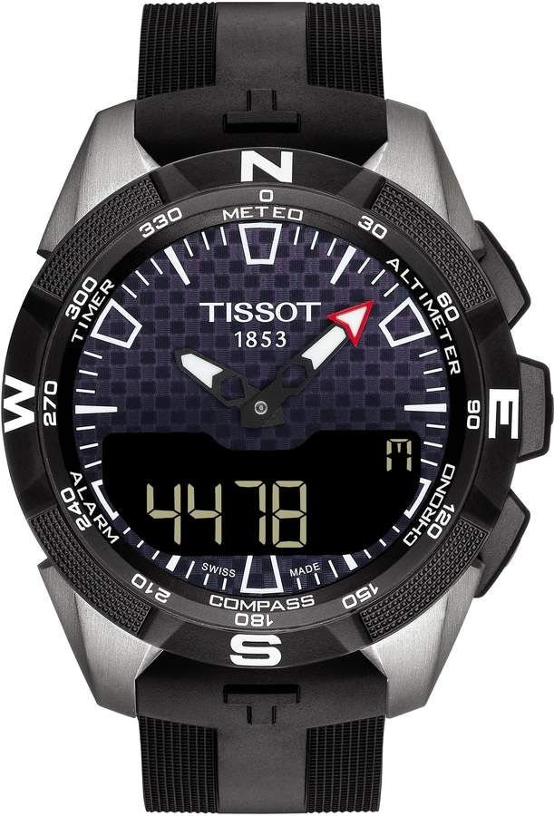 Tissot T Touch Expert Solar Ii Multifunction Rubber Strap Watch 45mm Tissot T Touch Watches For Men Army Watches