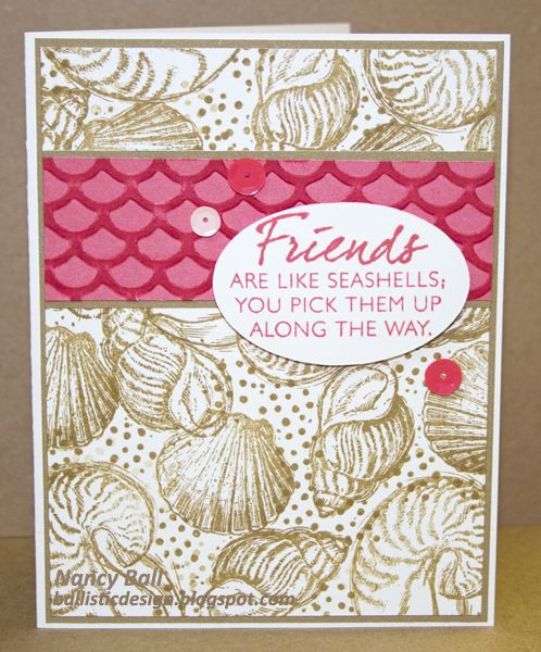 Nancy's CRAFTY blog: She sells sea shells.......